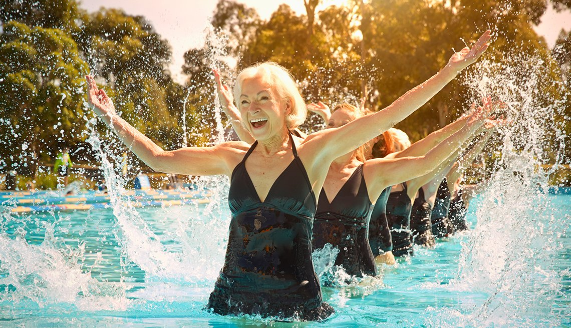 Mature women, synchronized swimmers, performance, Activities, AARP Research, Life, Leisure