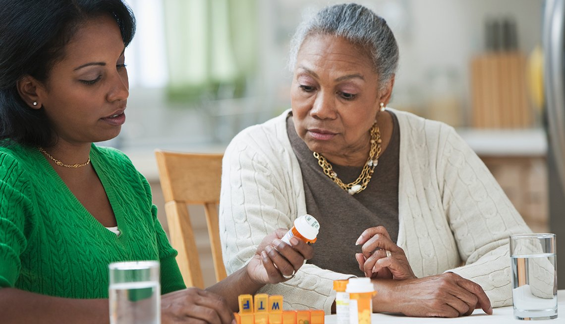 Daugher, Mother, medication, home-based services,AARP Research, Long-Term Care