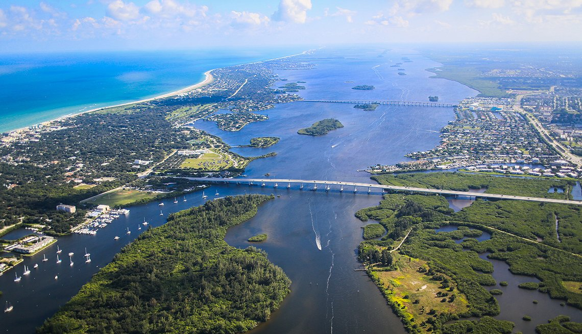 Aerial view of Vero Beach, Florida