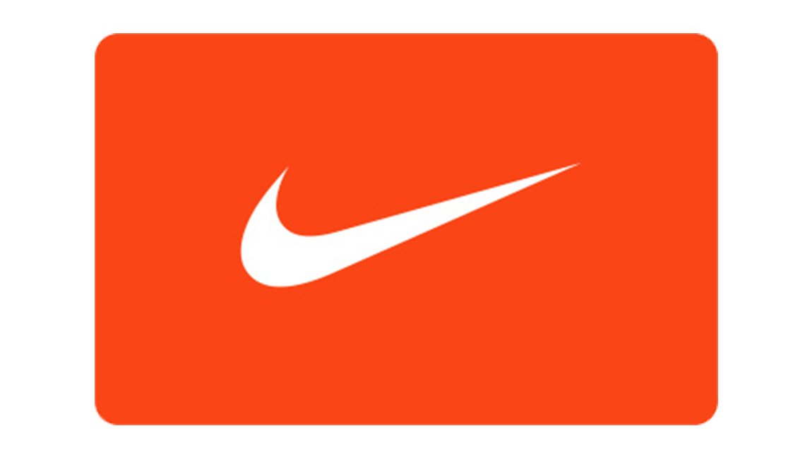 White Nike swosh on red rectangle background