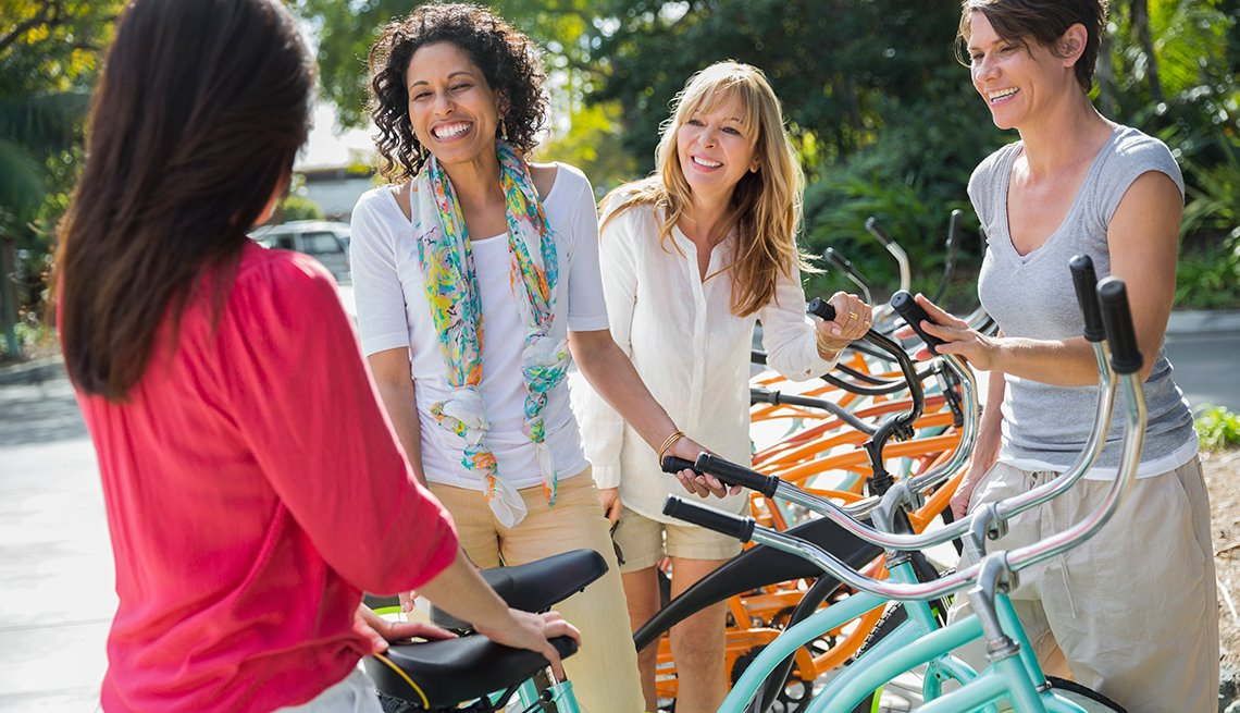 Female Friends with Bicycles, Rewards for Good Sweepstakes, Travel