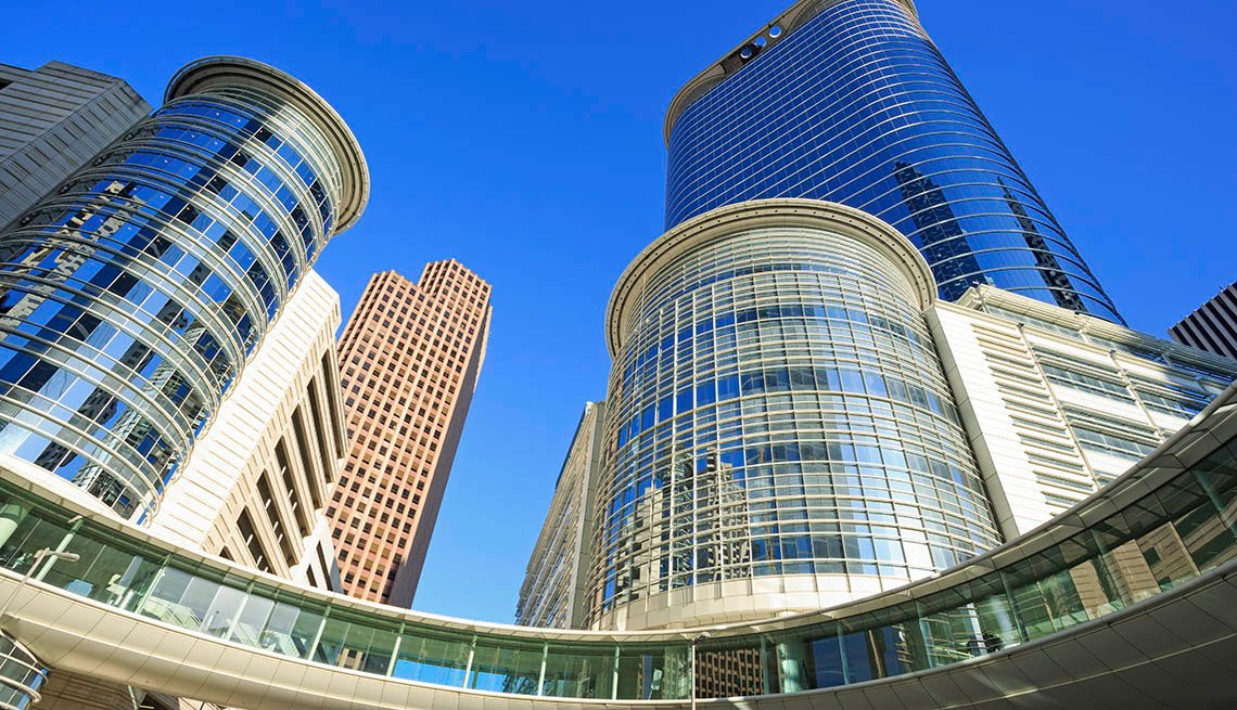 Downtown Houston Texas And Office Buildings, Top USA Travel Destinations