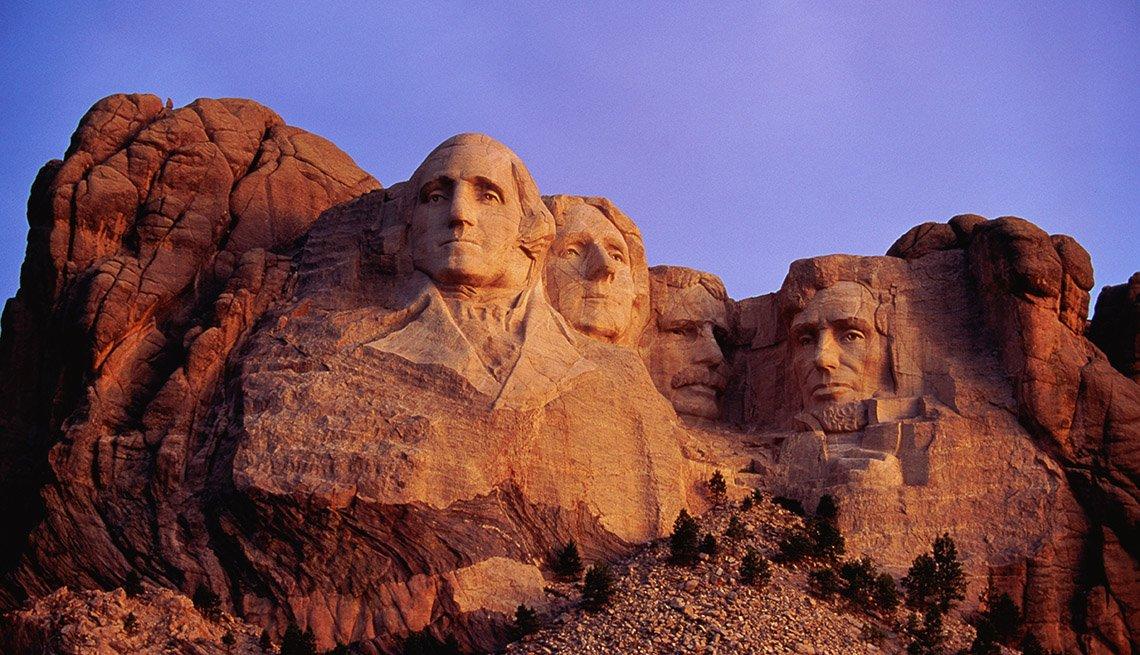 View Of Mount Rushmore At Dawn In South Dakota, Free USA Destinations