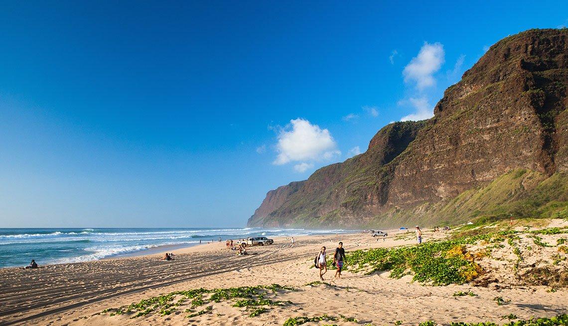Playa estatal Polihale en Kauai Hawaii