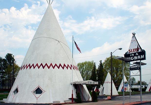 Wigwam Village en Cave City, Kentucky. - 7 Rutas clásicas para pasear en America