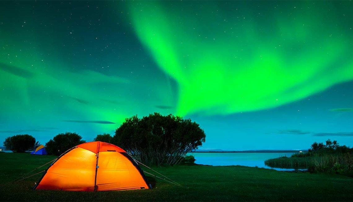 La aurora boreal, Islandia