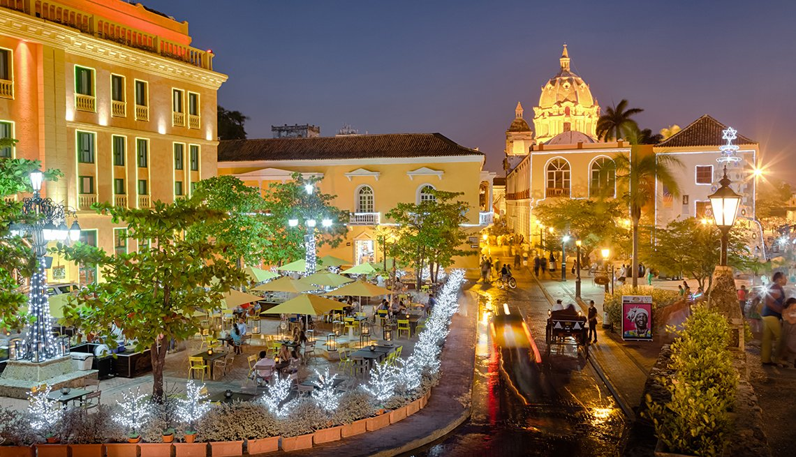 cartagena, at, night