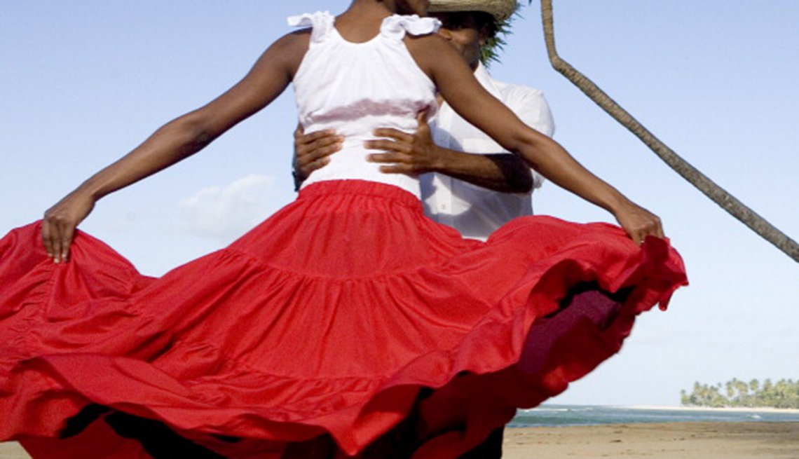 merengue, dancers, in, dominica republic