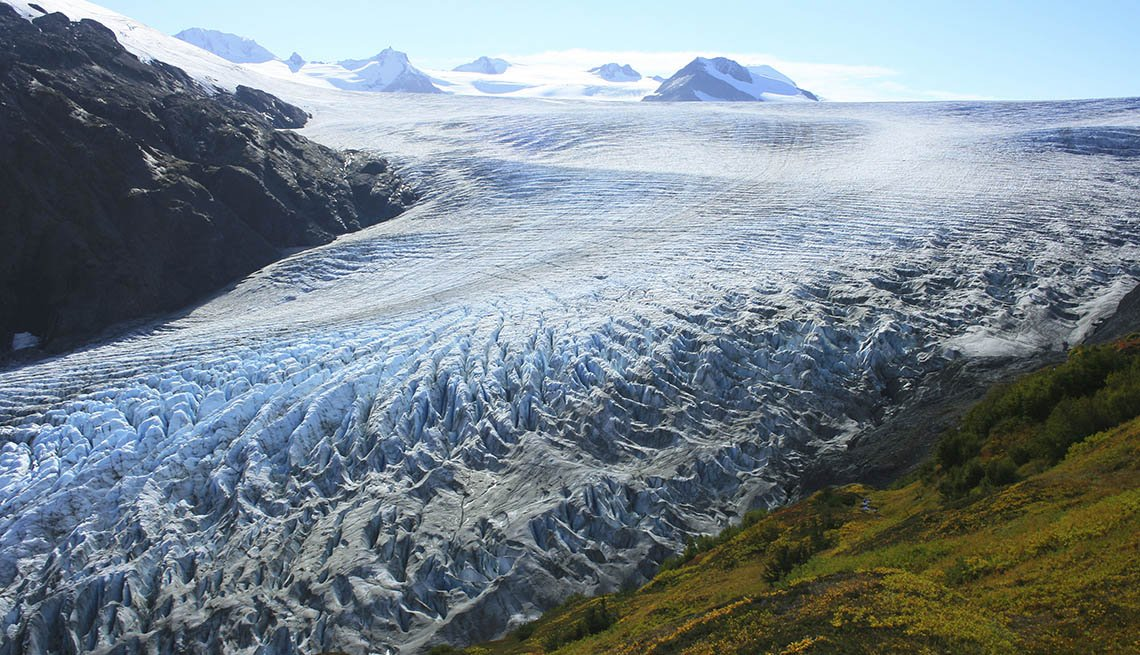 View Of A Glacier At Kenai Fjords National Park In Seward Alaska, Best National Parks