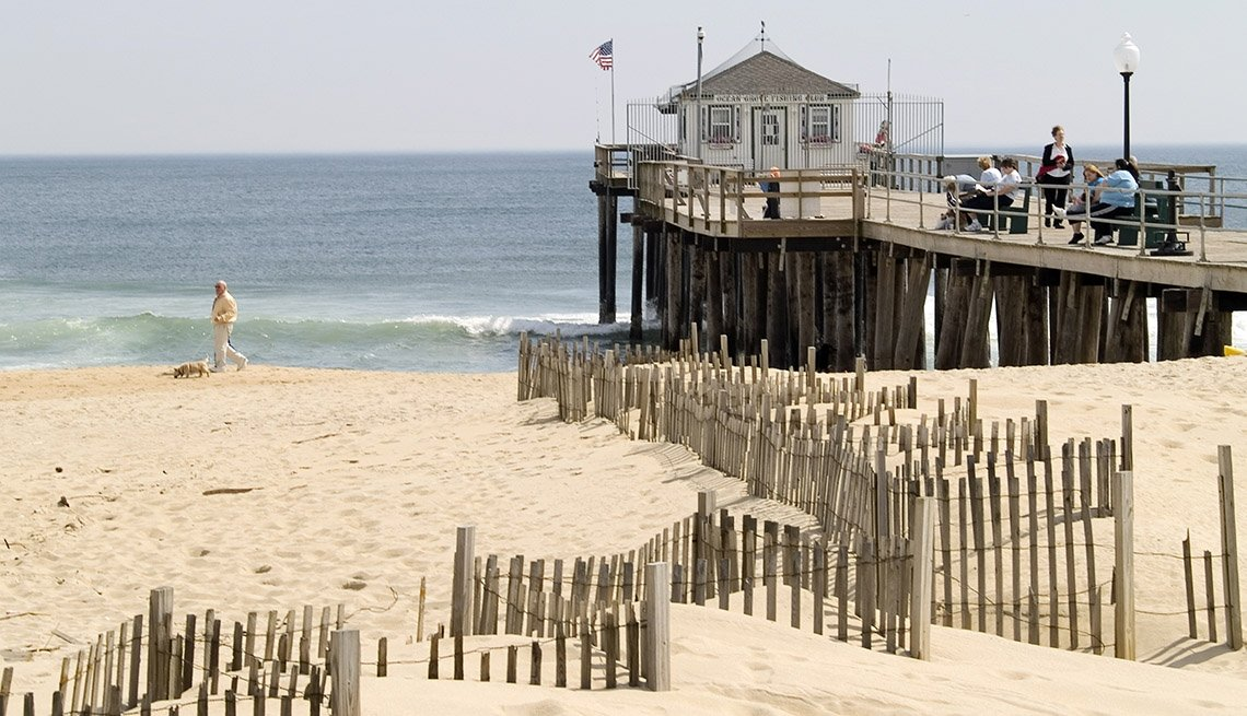 The Sand And Water At Ocean Grove Beach In New Jersey USA, World's Best Beaches