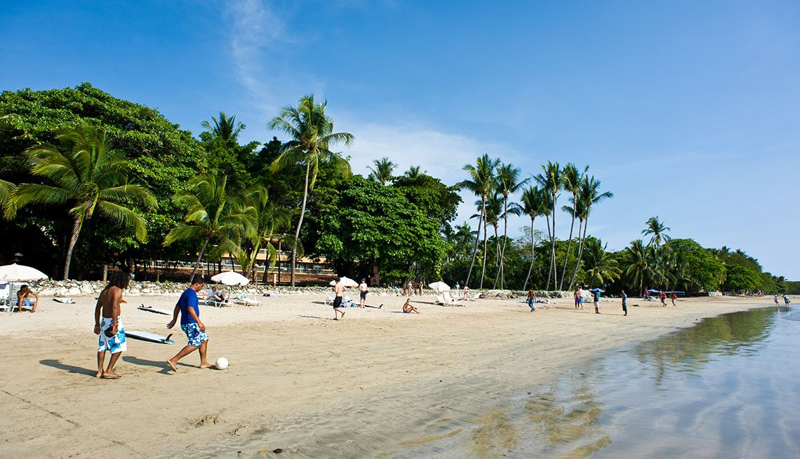 Beach Goers Play Soccer On The Beach In Papagayo In Costa Rica, World's Best Beaches