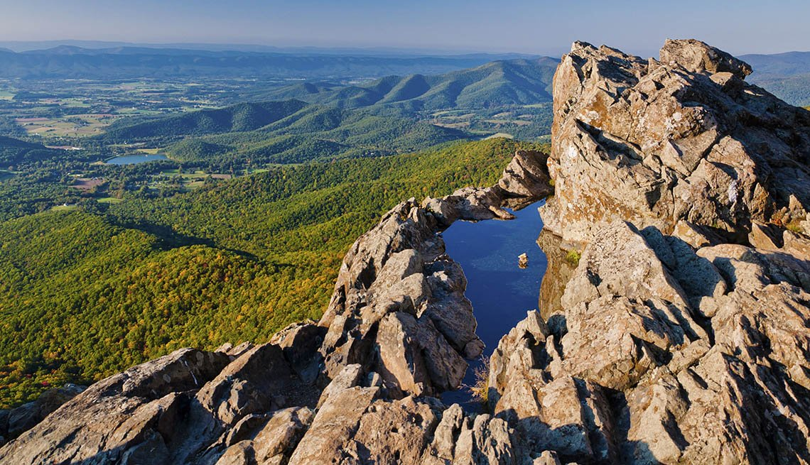 Aerial View Of Shenadoah National Park In Virginia, Best National Parks