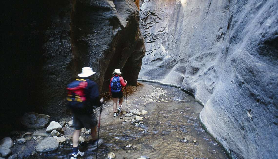 Hikers In Zion National Park, Utah, Best National Parks
