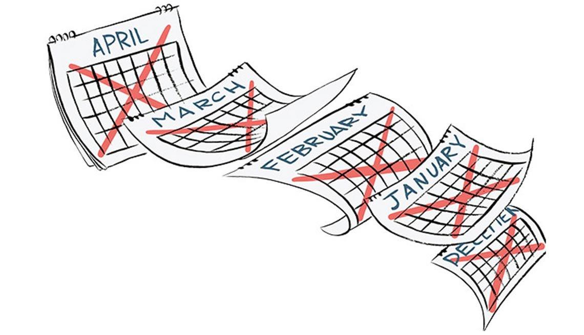 Illustración de un almanaque