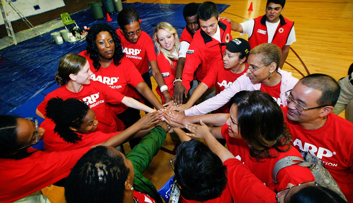 AARP Foundation staff preparing to volunteer-AARP Foundation Day of Service