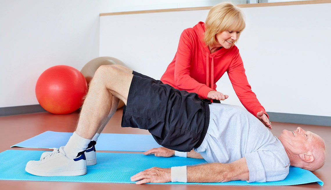 10 Great Jobs for workers over 50 - Fitness trainer