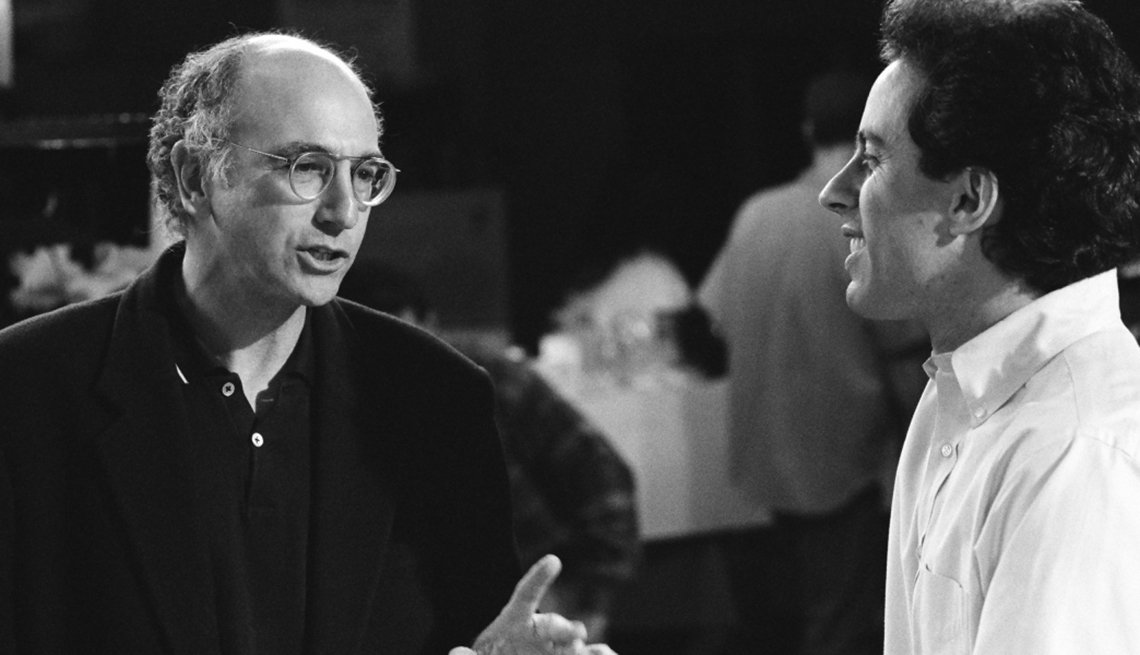 Larry David and Jerry Seinfeld, Comedians, Creative Thinking