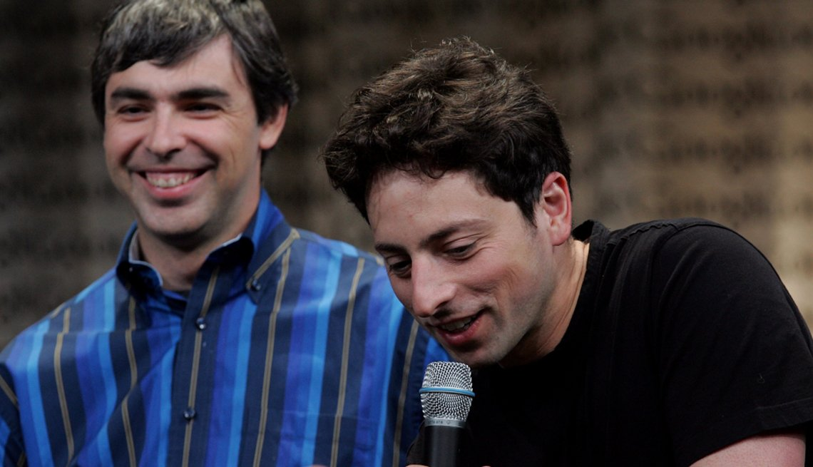 Larry Page and Sergey Brin, Google co-founders, Creative Thinking