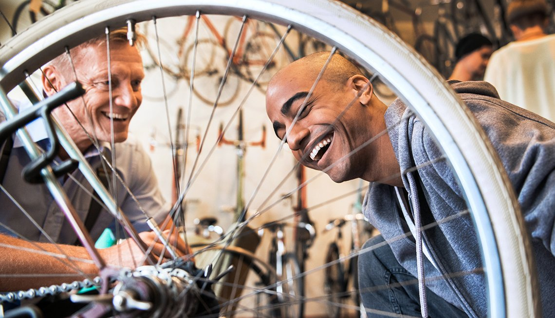 bicycle repairman as second career