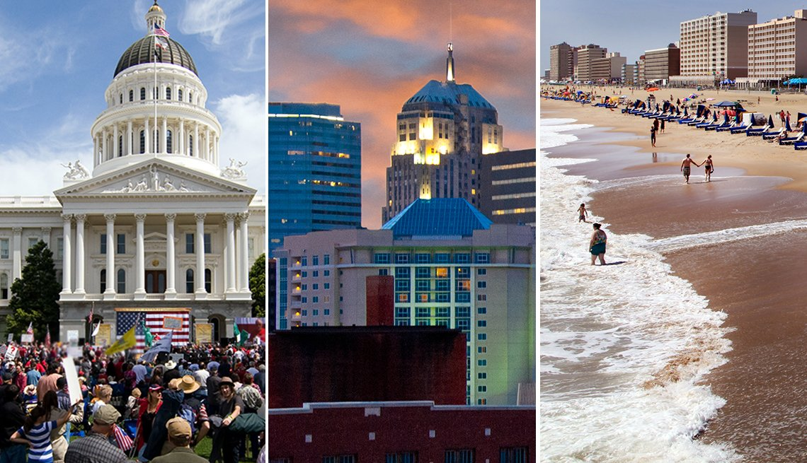 Sacramento, Oklahoma City, Virginia Beach