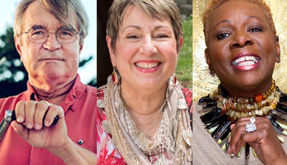 Eli Meir Kaplan, Catherine Ledner, y Sheila Fairley listos para el retiro.