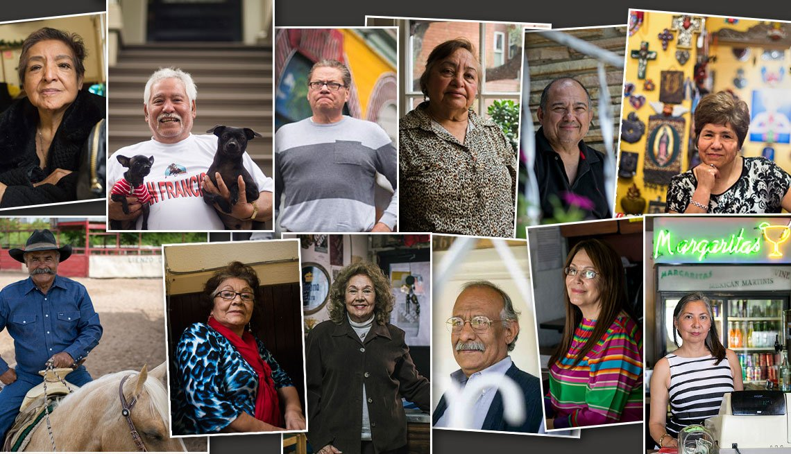 Fotos de hombres y mujeres mayores