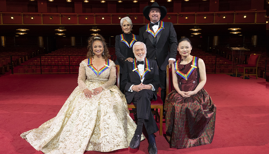 Kennedy Center Honorees Debbie Allen, Joan Baez, Dick Van Dyke, Garth Brooks, and Midori are celebrated in Washington, D.C. in advance of the 43rd Annual Kennedy Center Honors.