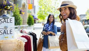 Women-shopping-on-village-street