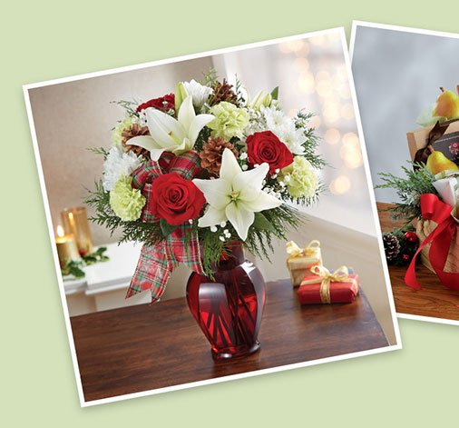 Holiday themed for 1-800-Flowers brands