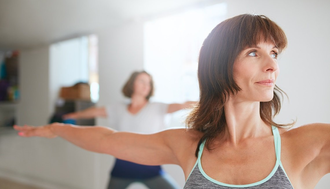 woman in exercise class