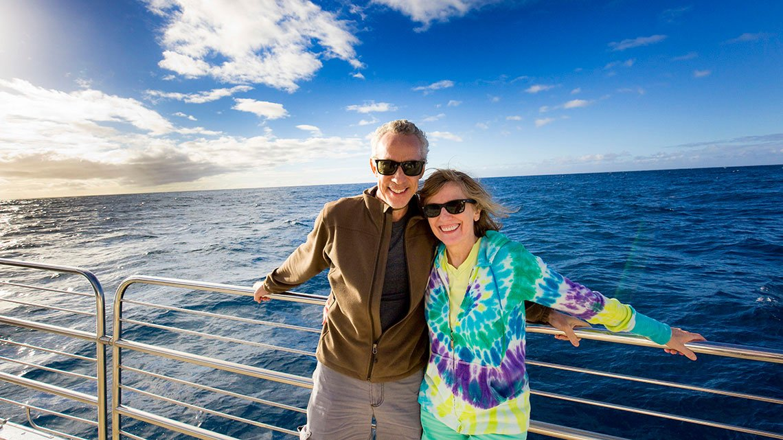 Adult tourist couple