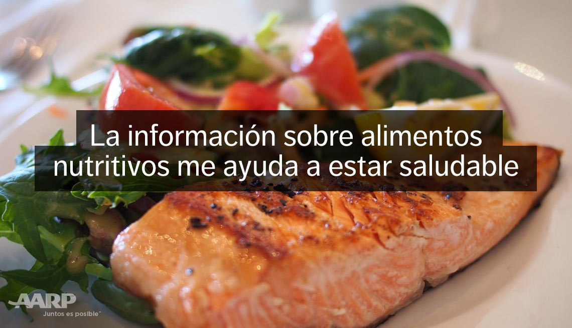 La información sobre alimentos nutritivos me ayuda a estar saludable