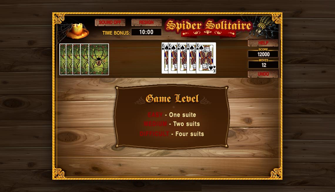 aarp online games spider solitaire