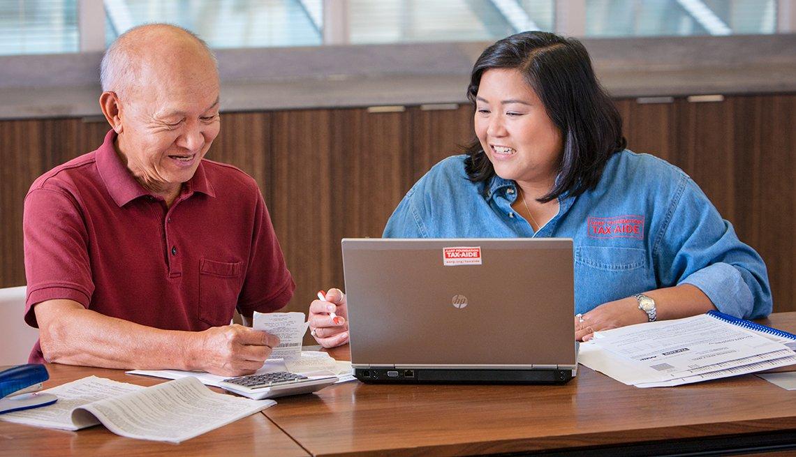 Tax-Aide volunteer Donna Ortega, participant, AARP Foundation, Washington, D.C.