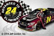 Jeff Gordon with #24 car, Advanced to Eliminator