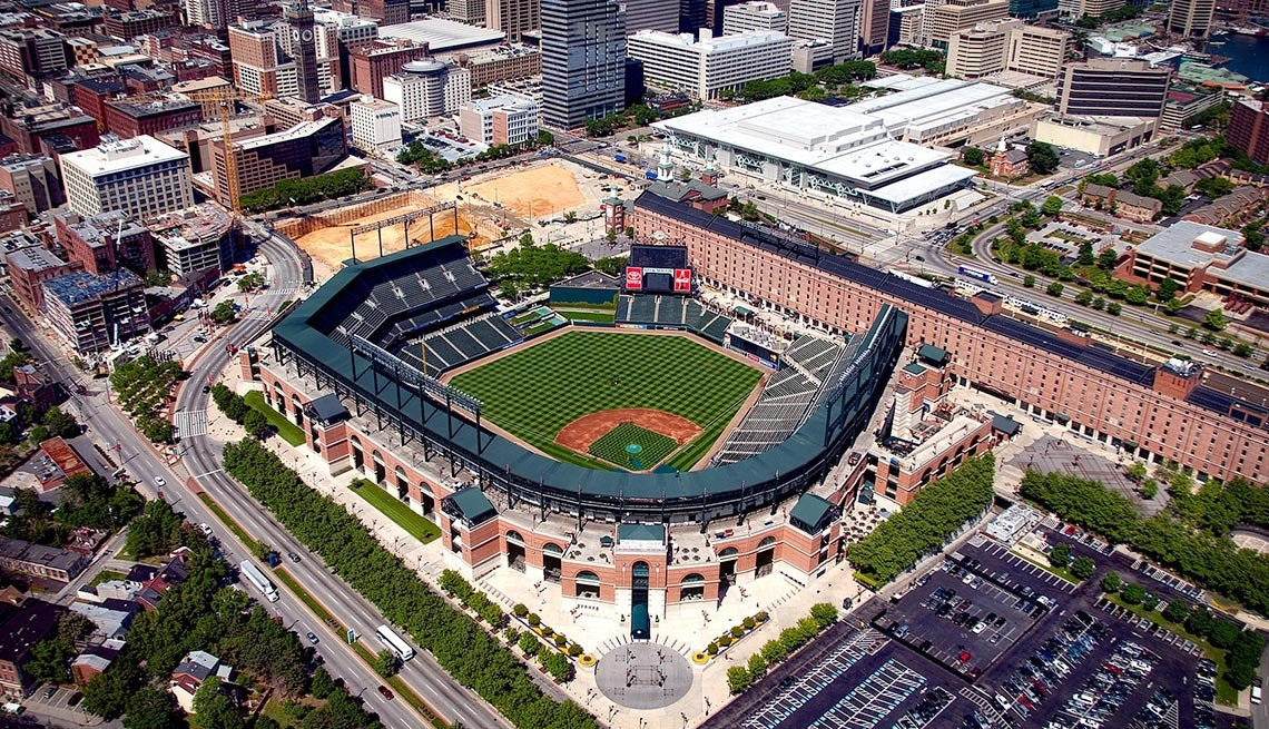 Baltimore, Maryland, Baseball Field, Aerial View, AARP Foundation Experience Corps Cities