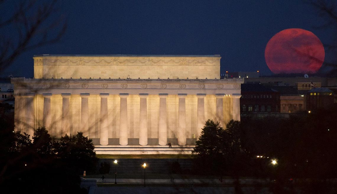 Lincoln Memorial, Super Moon, Washington, D.C. AARP Foundation Experience Corps Cities