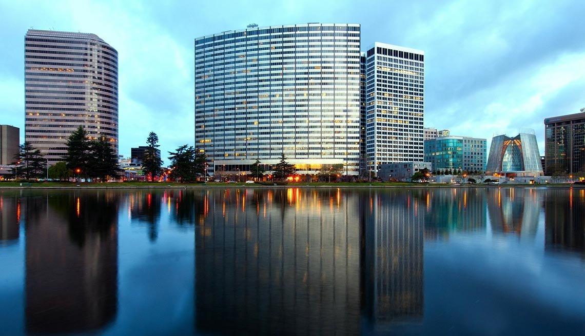 Oakland, California, Buiilding Reflections, Lake Merritt, AARP Foundation Experience Corps Cities