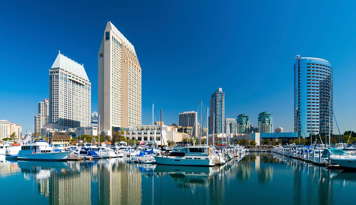 San Diego skyline and Marina,  AARP Foundation Experience Corps Cities