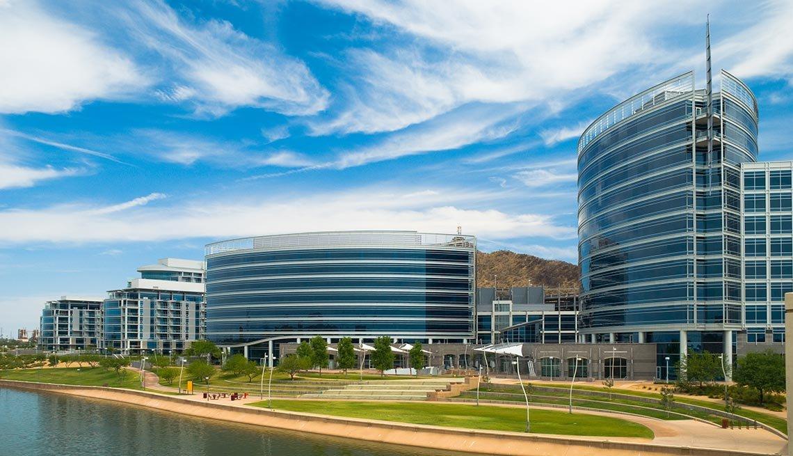 Tempe, Arizona, Buildings, Clouds, AARP Foundation Experience Corps Cities