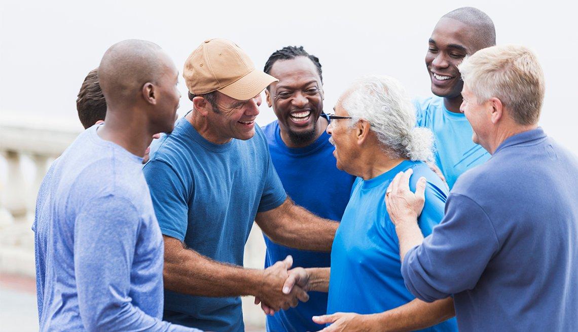 Multi-ethnic group of men