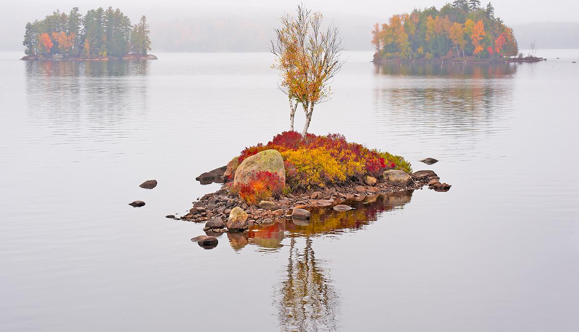 Fog on Tupper Lake