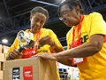 AARP volunteers participated in the meal packing activity during the Celebration of Service at the AARP Life@50+ National Event & Expo in Miami.