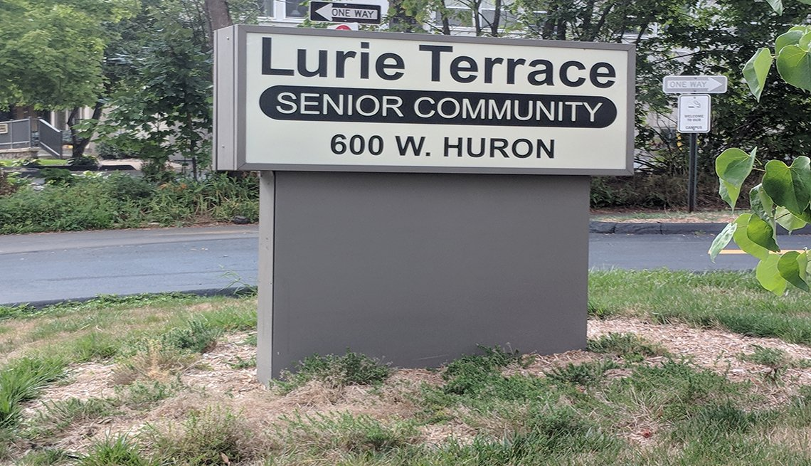 sign at Lurie Terrace Senior Community residence