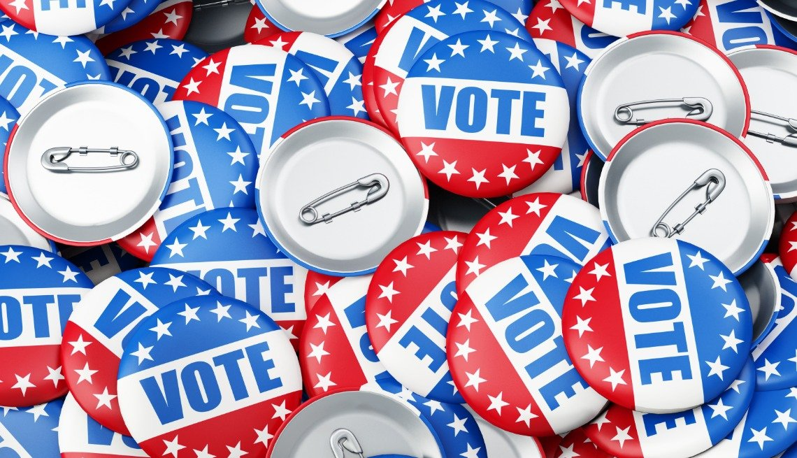 vote election pins image