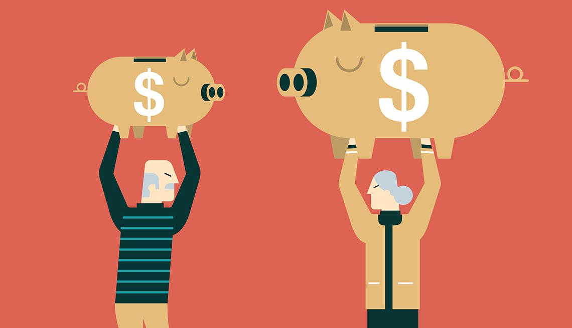 Piggy bank retirement savings