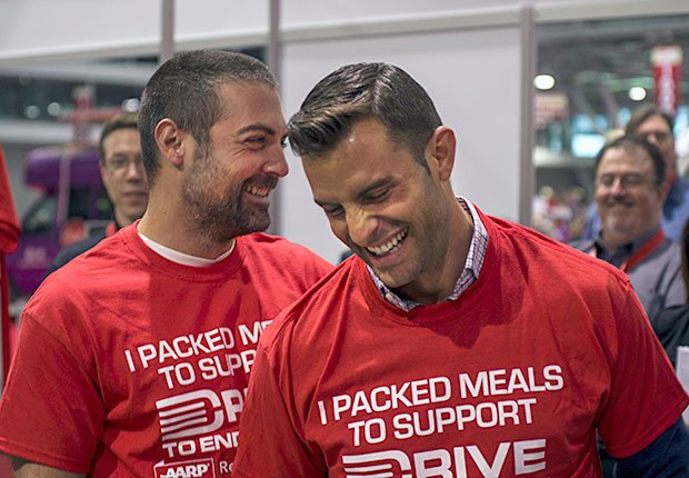 Kitchen Cousins stars Anthony Carrino and John Colaneri during the AARP Life@50+ event in Boston.