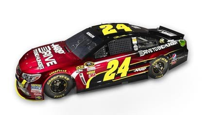 Jeff Gordon race car, #24, new paint scheme, AARP Drive to End Hunger