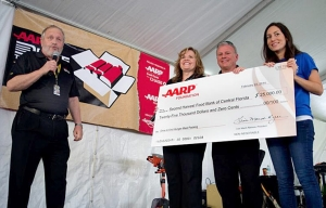 A donation is presented to the Second Harvest Food Bank of Central Florida