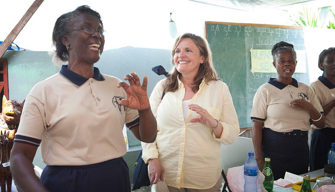 Lisa March Ryerson, Haiti visit, 2014, AARP Foundation